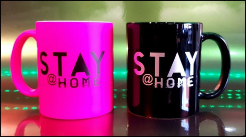stay at home festival April 2020 Mug