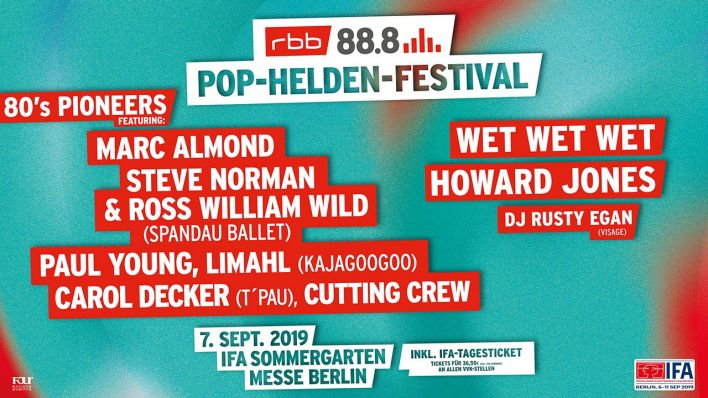 rbb Pop-Helden-Festival Berlin 2019